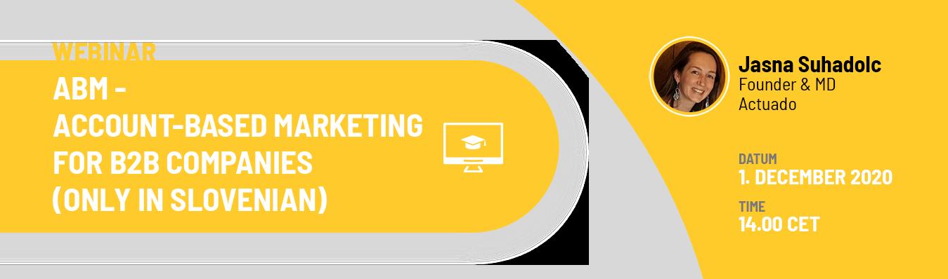 ABM – Account-based marketing v B2B podjetjih
